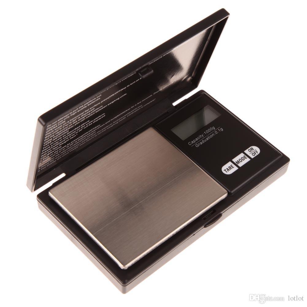 1000g x 0.1g Escala digital de bolsillo para joyería Escala de plata de oro Herramientas de medición de cocina de acero inoxidable Balanza electrónica de bolsillo