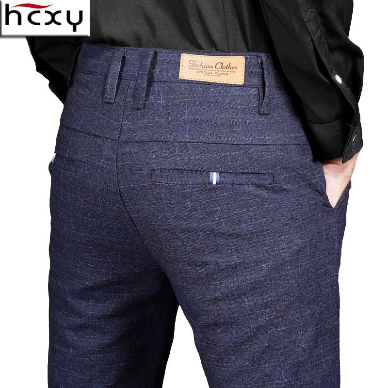 144ef1f2 HCXY 2018 autumn new fashion Mens Casual Pants high quality Brand Business  Pants male Clothing Cotton Formal Trousers men