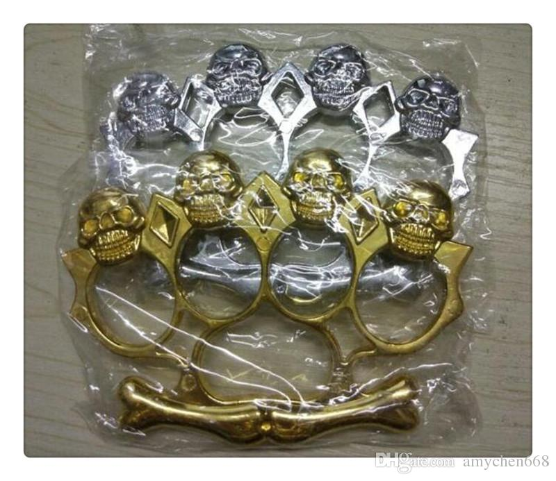 Hot New USA Death Squads Steel Brass Ghost Brass Knuckle Dusters Back or Gold or Silver