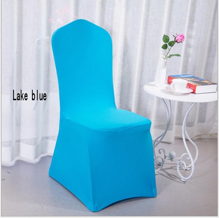 Cubierta de la silla del banquete de boda del spandex blanco blanco universal Cubierta de la silla de lycra del spandex blanco para el banquete del banquete de boda muchos color