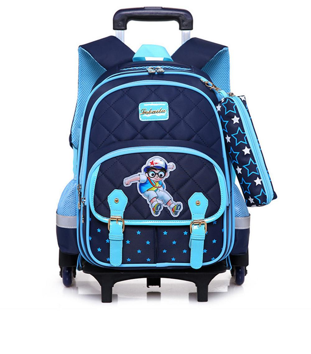 963839244e0 Hot Sales Removable Children School Bags With 3 Wheels Child Climb Stair  Trolley Backpack Kids Wheeled Bags Boys Girls Bookbag Backpacks Sales  Backpack ...