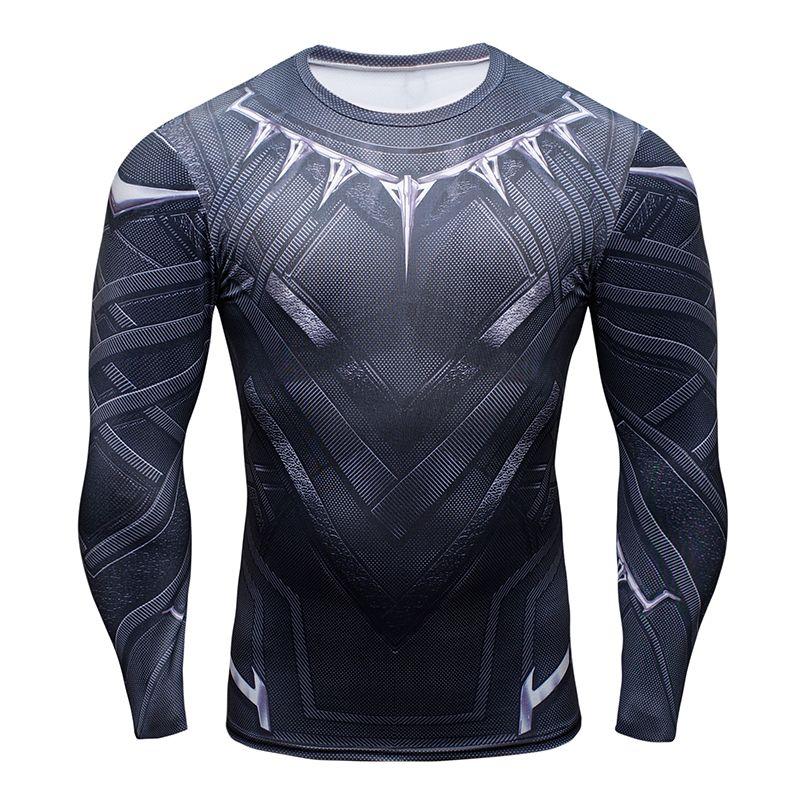 153ced3d77 Compre Venda Quente 3D Black Panther T Shirt De Compressão Camiseta De  Manga Longa Homens Moda Crossfit Musculação Tshirt Roupas De Fitness Tops  De ...