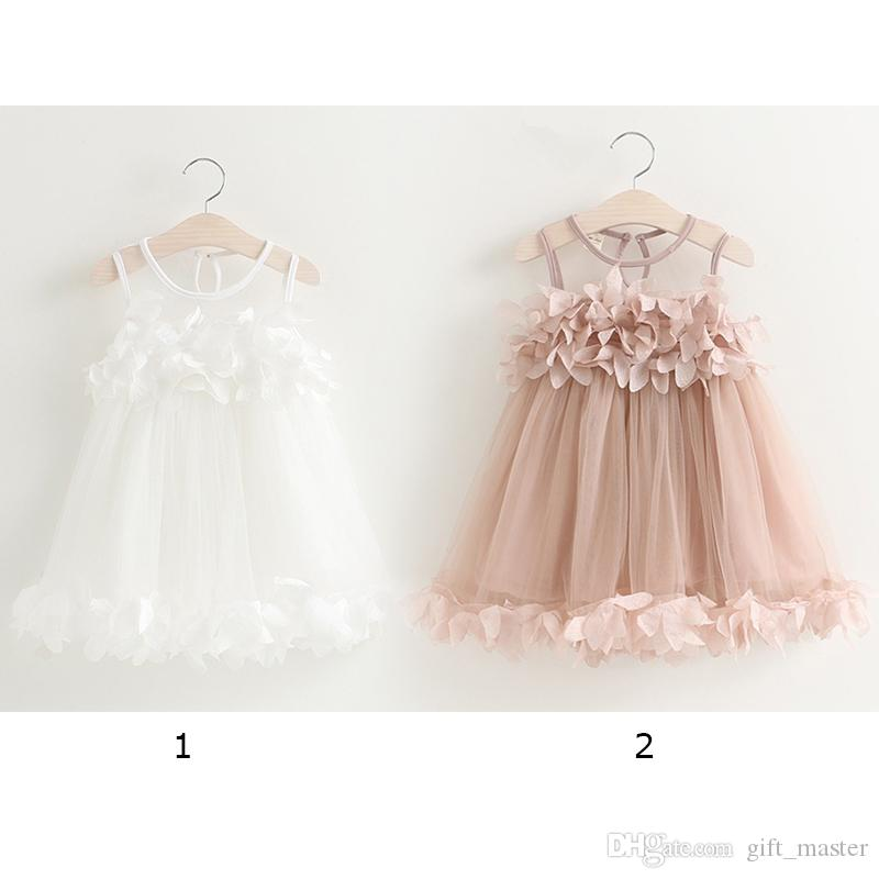 a171b99c557 Baby Little Girls Lace Skirt Princess Strapless Dress with Flower ...