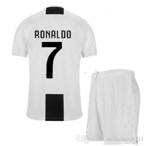 outlet store 92fba 3d373 2018 2019 Cristiano Ronaldo home football uniform player s short sleeve  soccer kit adult s thai quality sports jersey and shorts soccer set