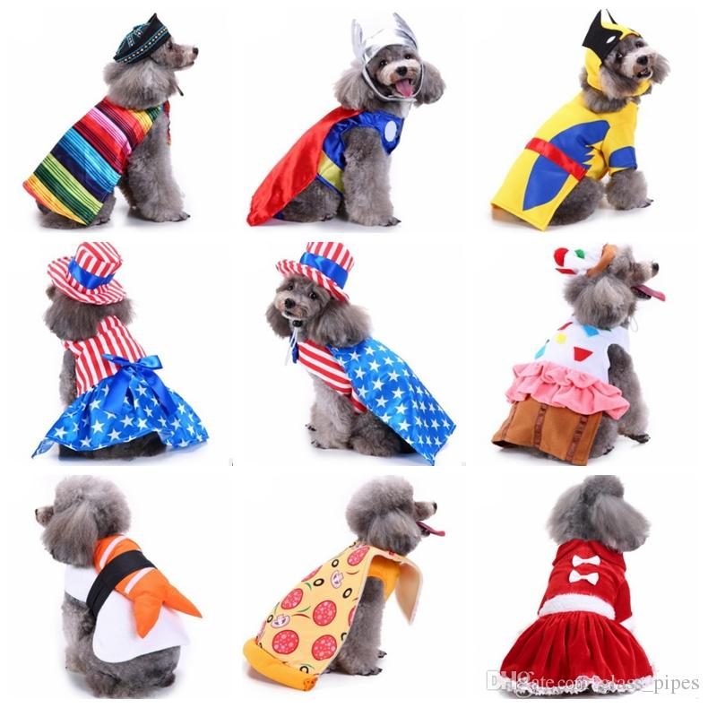 Dog Clothes Christmas Dog Coat Jackets Small Dog Halloween Costume Party Transform Costumes Pumpkin Santa Pet Supplies 18 Designs YW1530