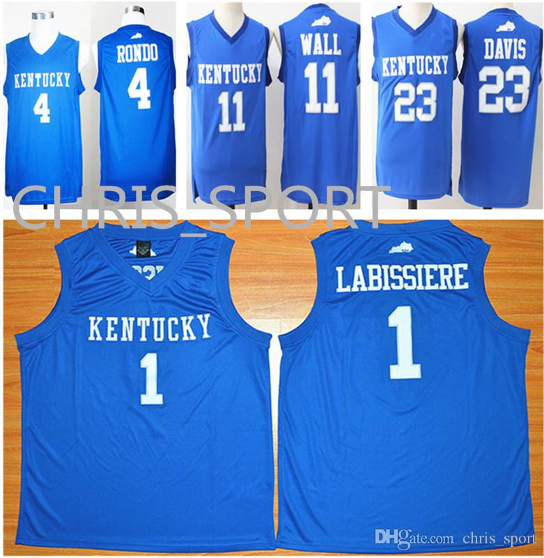 ... discount code for kentucky college wildcats blue basketball jerseys 4  rajon rondo 1 skal labissiere 11 54066660b