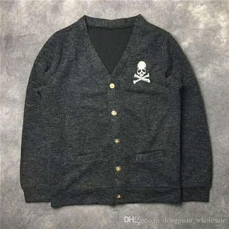 5c018ec99fb 2019 2019SS NEW 1m 1 High Quality Mastermind Japan MEN WOMEN Woolen Sweater  Hip Hop MMJ Skeleton Skateboard Sweater S XXL From Dongguan wholesale