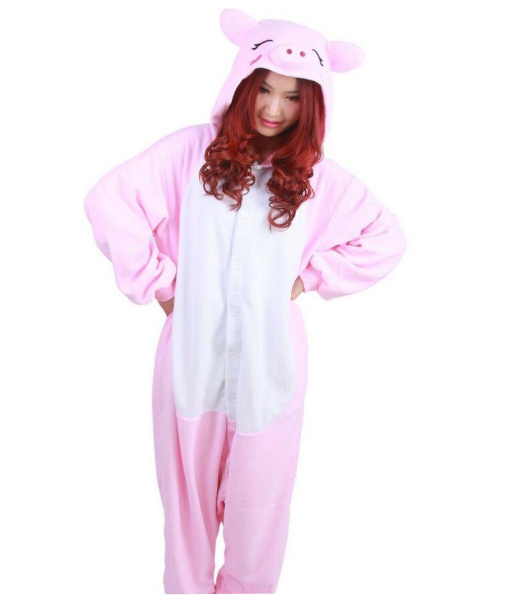 a70ae6795b Compre Pink Pig Stock Calientes Unicornio Kigurumi Pijamas Trajes De  Animales Cosplay Disfraz De Halloween Ropa Para Adultos Monos De Dibujos  Animados Ropa ...