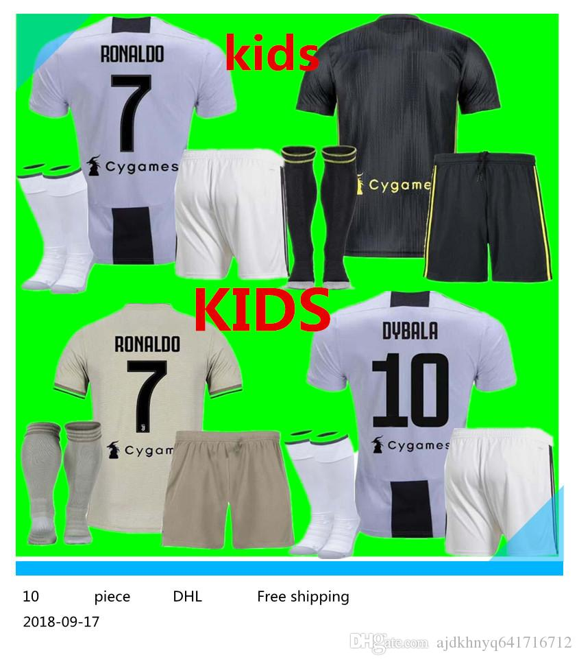 abfdfc9d9 18 19 Juve RONALDO HIGUAIN Kids Suit Jersey 2018 2019 CUADRADO ...