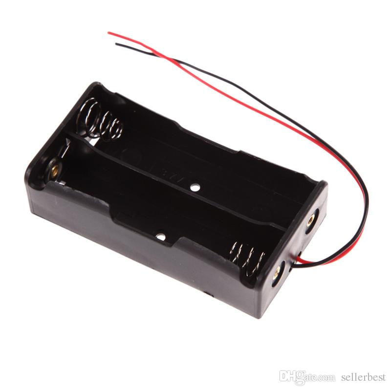 New Power Bank for 2x18650 Battery Holder Plastic Battery Holder Storage Box Black Case for With Wire Lead Battery Box