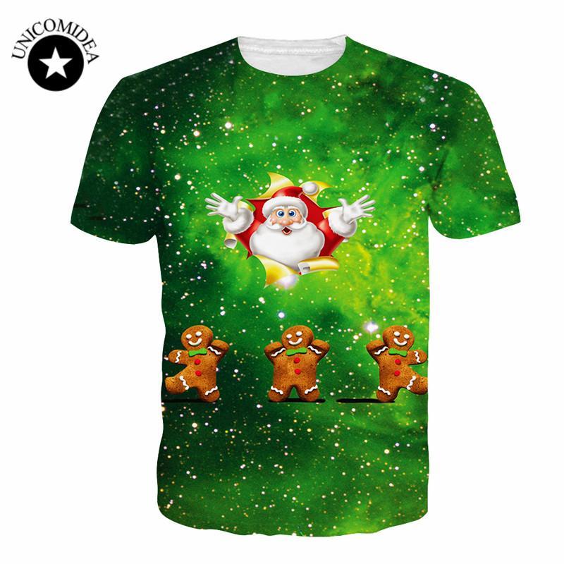 f4677492c 4XL Large Size Novelty Christmas 3D Tshirt Cartoon Santa Claus Animal Cat  Print T Shirt Harajuku Fitness Tops Christmas Gift Personalized T Shirt T  Shirt ...