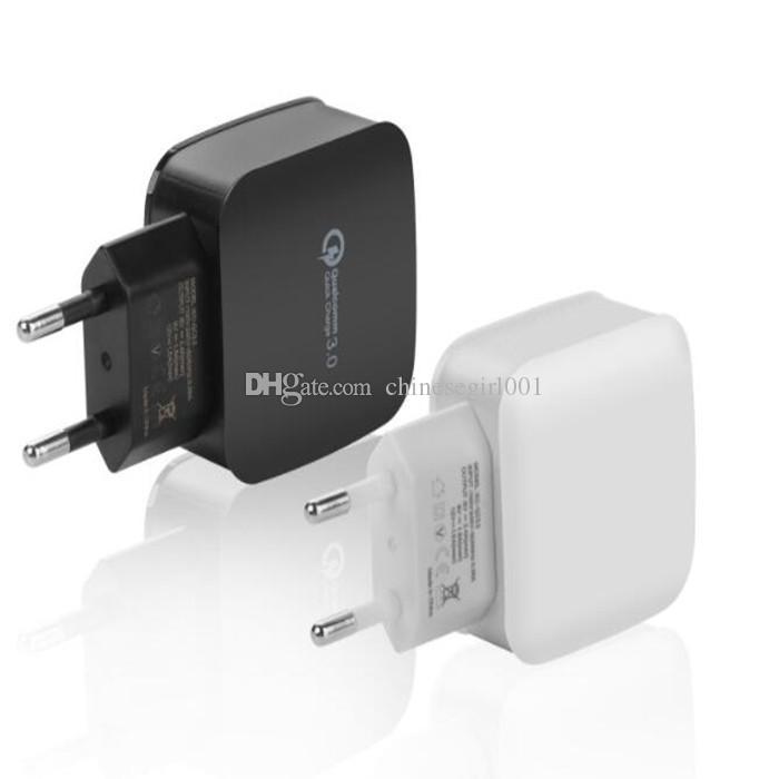 Chargeur mural USB à prise rapide avec chargeur USB 3.0 EU pour iPhone 7 Plus pour Samsung s8