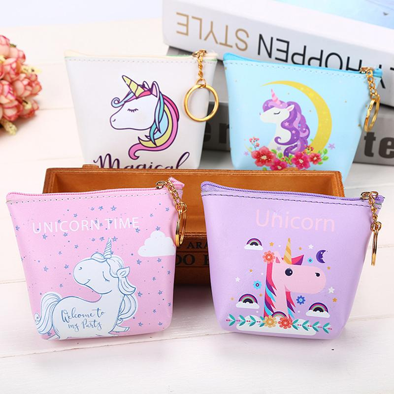 Coin Purses & Holders Cute Animal Unicorn Coin Purses Holder Fashion Girl Kids Mini Gift Change Bag Zipper Pouch Boy Children Women Wallets Money Customers First Coin Purses