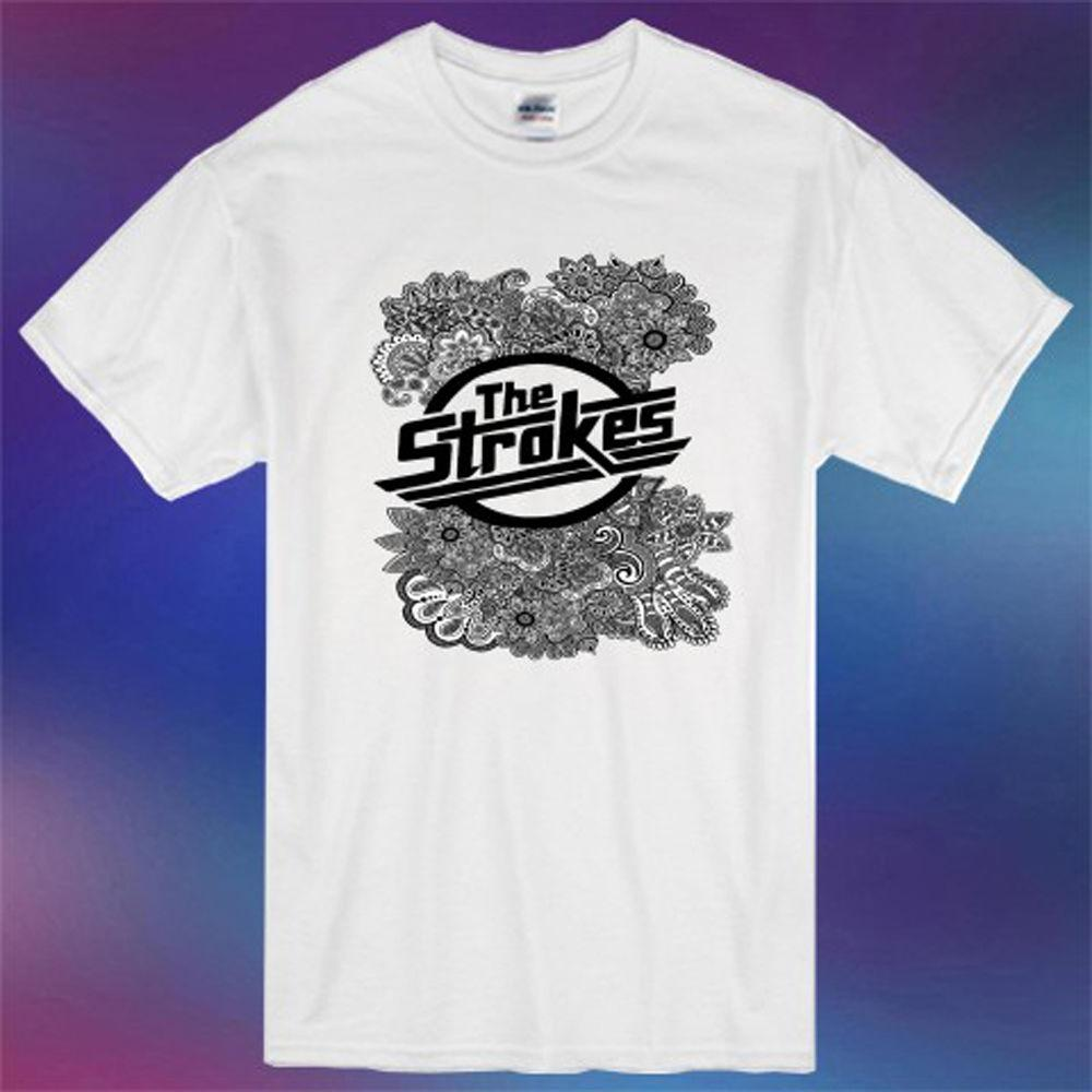 2f8bdaa1 New The Strokes Rock Band Logo Men'S White T Shirt Size S 3XLFunny Unisex  Casual Gift Crazy Design Shirts Best Tee Shirt Sites From Free_will_shirts,  ...