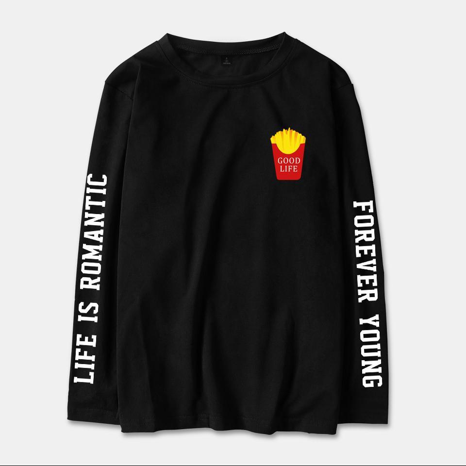 a70ca2bc Kpop Good Style 2018 BTS Good Life K-pop Spring Long Sleeve T-Shirt ...