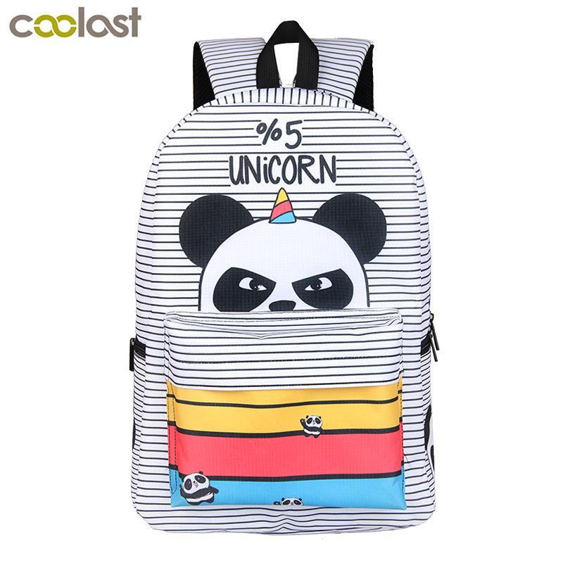 Compre Kawaii 5 Por Ciento Unicornio Panda Mochila Para Niñas