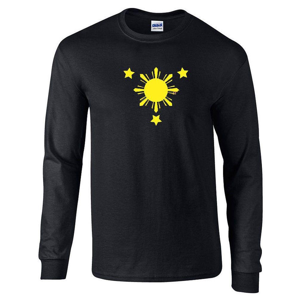 9802c2e023caa Philippine Flag Shirt Philippines Long Sleeve T-Shirt