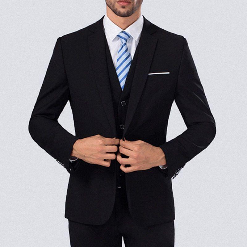 bb0ccc7cbaa 2019 Set Mens Wedding Dress Slim Fit Suit Business Formal Men S Clothing  Suits From Littlebirdofficialst