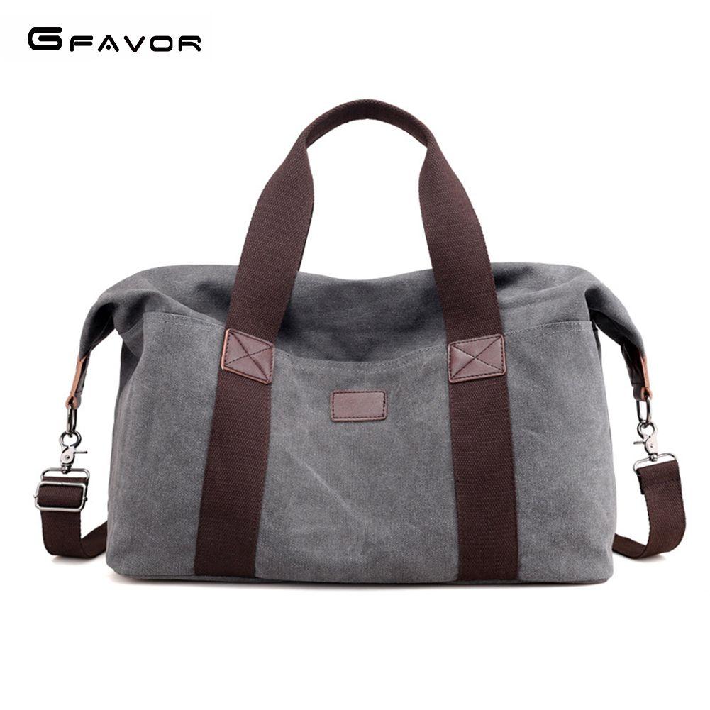G-FAVOR Canvas Travel Handbag Men Large Capacity