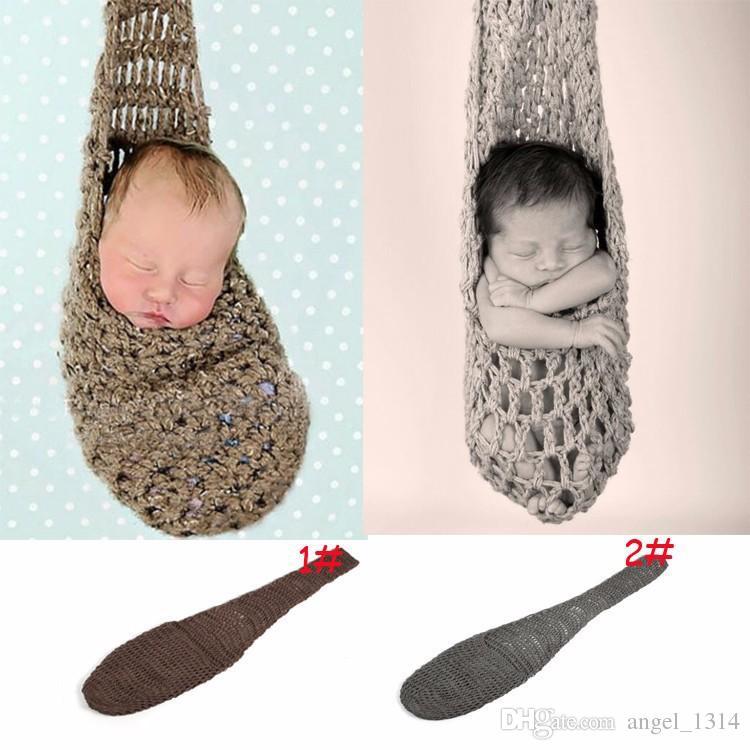 Baby Photography Props Hanging Bed Hammock Fish Net Baby Sleeping