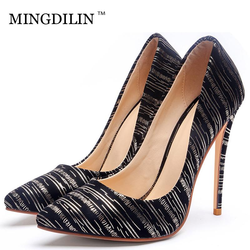 MINGDILIN Golden Silver Women S High Heels Shoes Wedding Party Woman Heel  Shoes Plus Size 33 43 Pointed Toe Sexy Pumps Stiletto Womens Shoes Shoes  For Women ... 135bf85a2bed