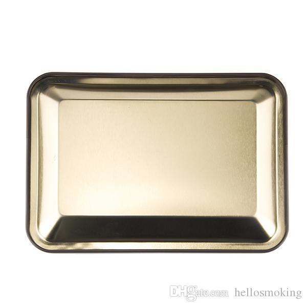 Retail Metal Tobacco Rolling Tray180*125*13mm Handroller RollingTrays Rolling Machine Tools Tobacco Tray Smoking Accessory hellosmoking 003