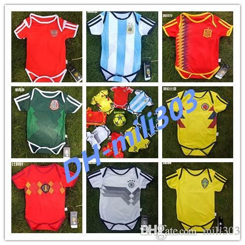 2019 2018 World Cup MEXICO BABY Soccer Jersey SPAIN ARGENTINA SWEDEN ... 4e14daeabe2