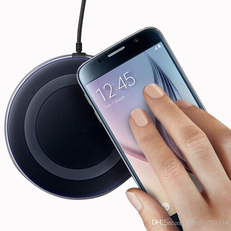 2019 Yüksek Kalite Evrensel Qi Kablosuz Şarj Samsung S9 S7 Kenar S8 artı Note8 iphone 8 X mobil pad ile paketi