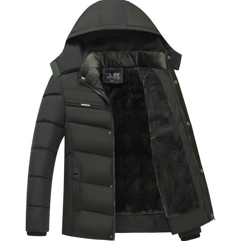 431900c45e0 XL-4XL Middle-aged dad wear winter Parkas feather padded middle-aged men  plus velvet thick jacket men winter jacket coat men's