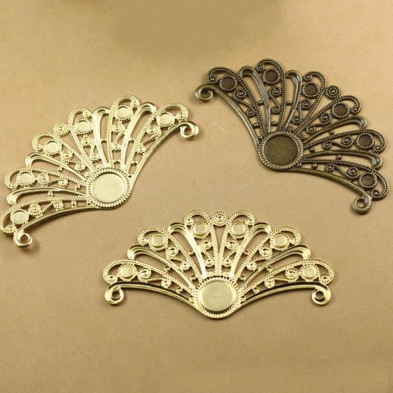 29 * 55mm perline gioielli fai da te braccialetto collana orecchino spille pendenti anelli scrapbook rivetto accessori capelli piuma d'epoca