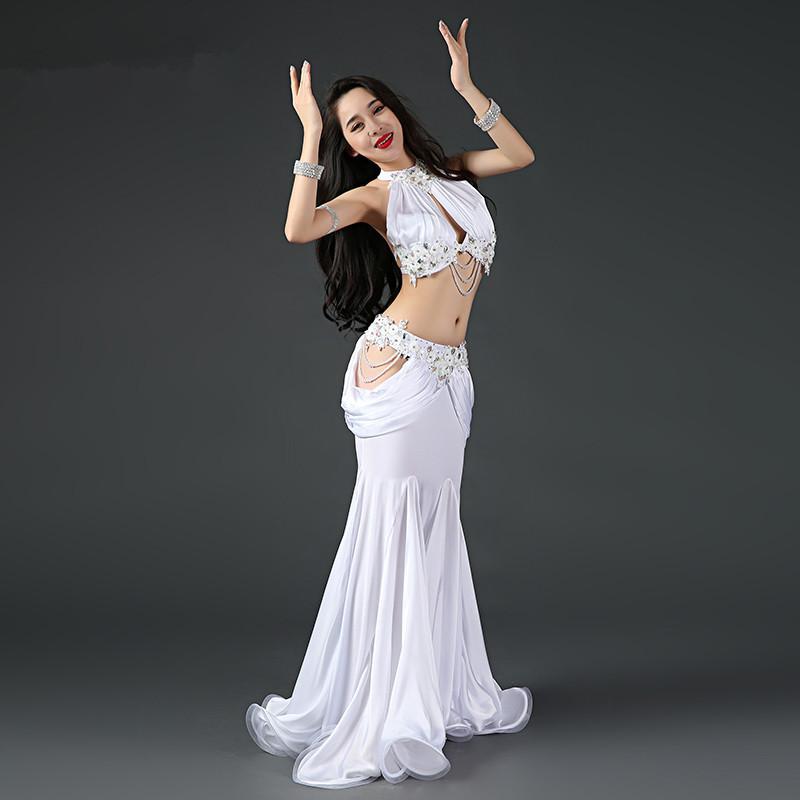 03fcd3a26 Traje de baile oriental danza del vientre columpio trajes de baile egipcio  indio Bellydance baladi sujetador cinturón falda vestido traje de desgaste  ...