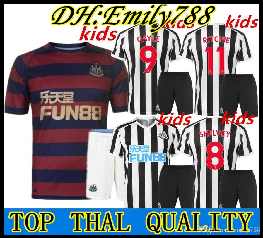 huge discount da07e dbe53 kids18 19 Newcastle United soccer jerseys kids 2018 2019 home away third  RONDON ATSU SHELVEY DIAME AYOZE SCHAR MUTO boys football shirts