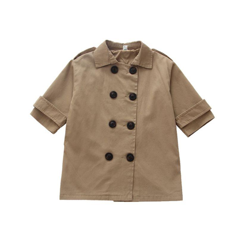 f5a1aa1b1 New Fashion Infant Children Windbreaker Khaki Solid Kids Long ...