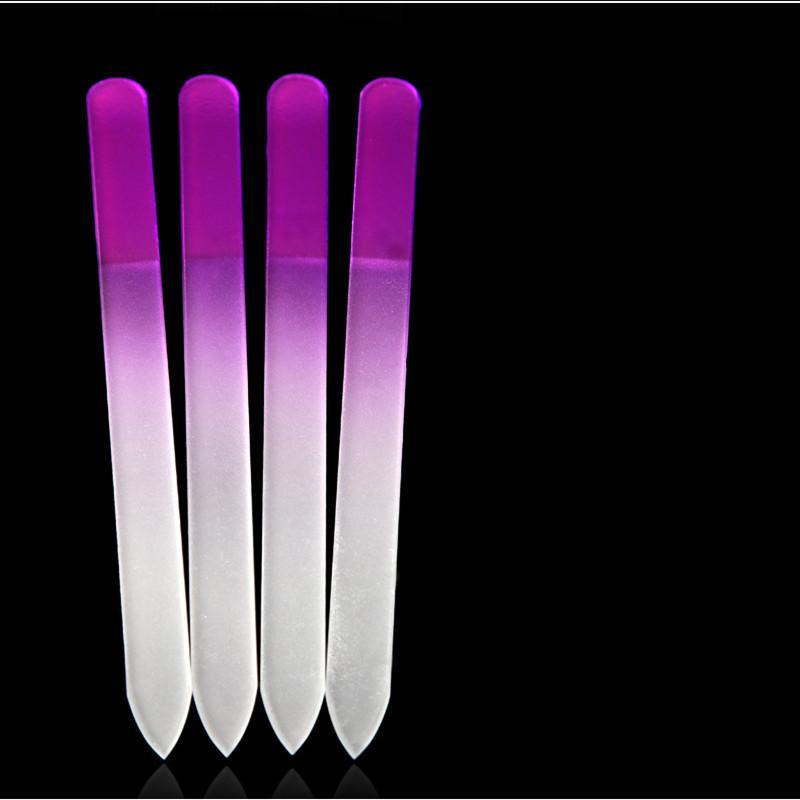 Nail Files Crystal Glass File Buffer Manicure Device Monochromatic ...