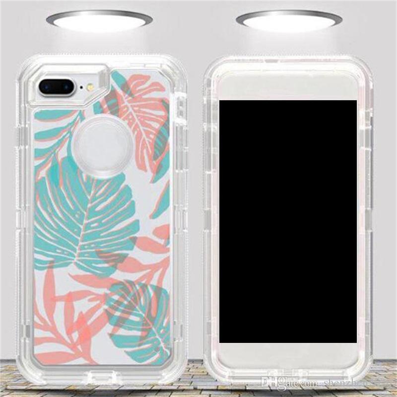 Samsung galaxy s9 Note 8 s8 Plus Custodia trasparente robot artistici iPhone X 8 7 6 6s Hybrid Crystal Defender Cover grafica 2018 Nuovo
