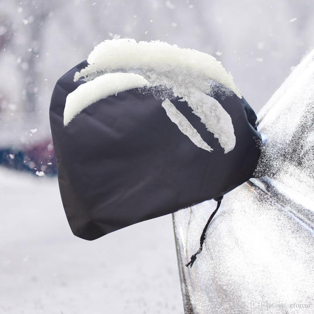 Coppia di specchietto retrovisore Cover Auto Car Side View Specchio Snow Rain Covers Universal Snow Ice e Frost Protection Black Shade Bag Oxford