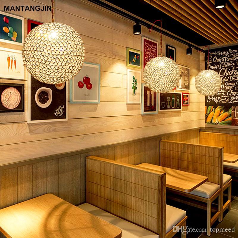 Хрустальная люстра подвесной светильник люстра современный k9 хрустальный шар светильник освещение LED droplight для бара ресторан столовая