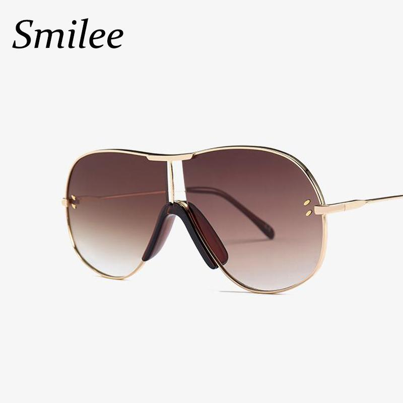 287831d49427e 2018 Fashion Brand Designer Oversized Sunglasses Metal Frame Women ...