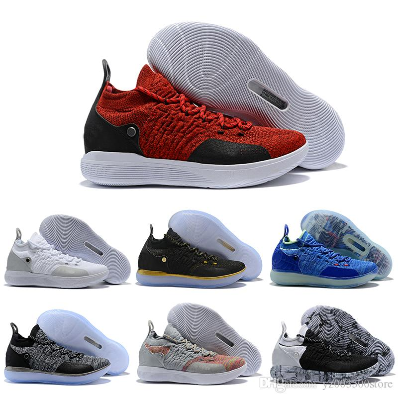 New 2018 Zoom Kevin Durant KD 11 Multi-Color Oreo Numbers BHM Igloo Men Anniversary University Basketball Shoes X Elite Mid Sport Sneakers