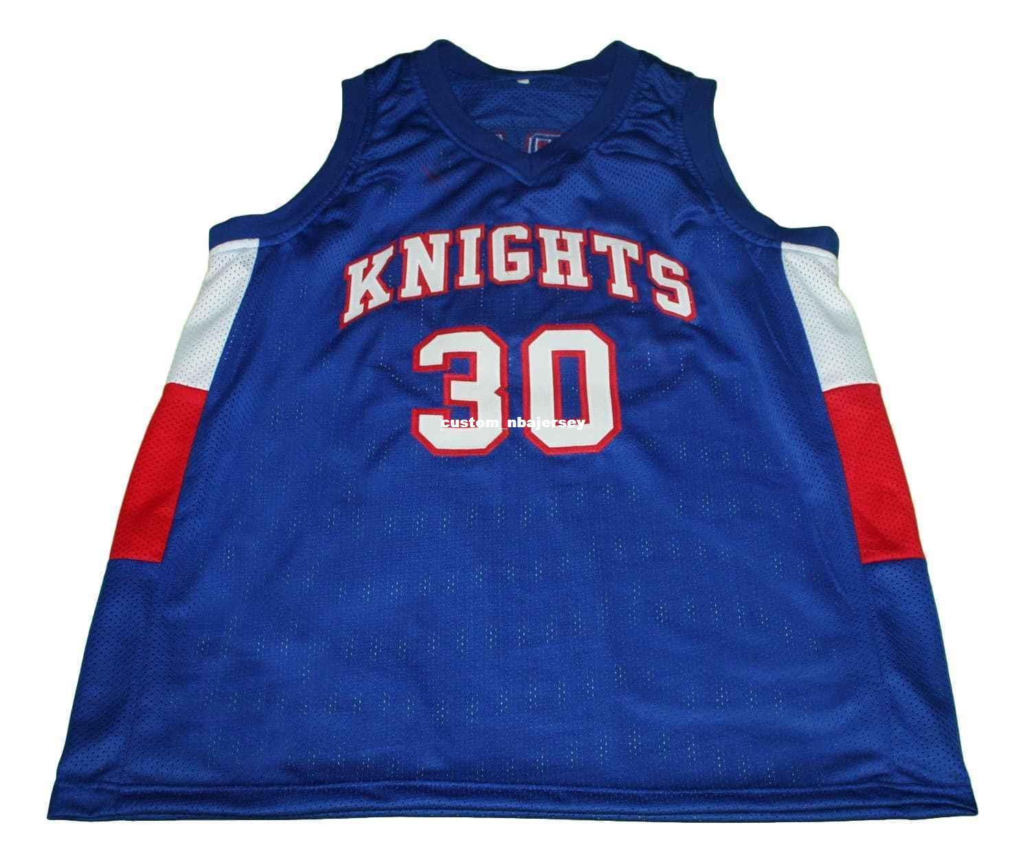 b5b004961 2019 Wholesale Stephen Curry 30 Knights High School New Basketball Jersey  Blue Stitched Custom Any Number Name MEN WOMEN YOUTH BASKETBALL JERSEYS  From ...