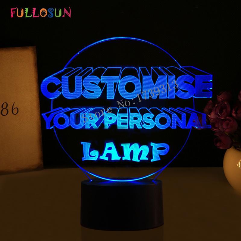 Personnelle Lampe La Cadeau Couleur Lumières Personnalisez Les De 7 Le Nuit D'usb Dropship 3d Led Pour FJcKT3l1