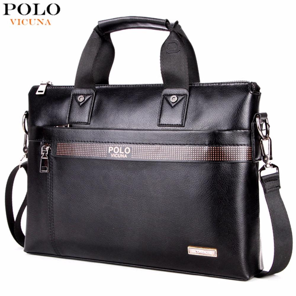 VICUNA POLO Business Solid Color Men Briefcases Luxury Brand Mens ... a7ad8eb44c