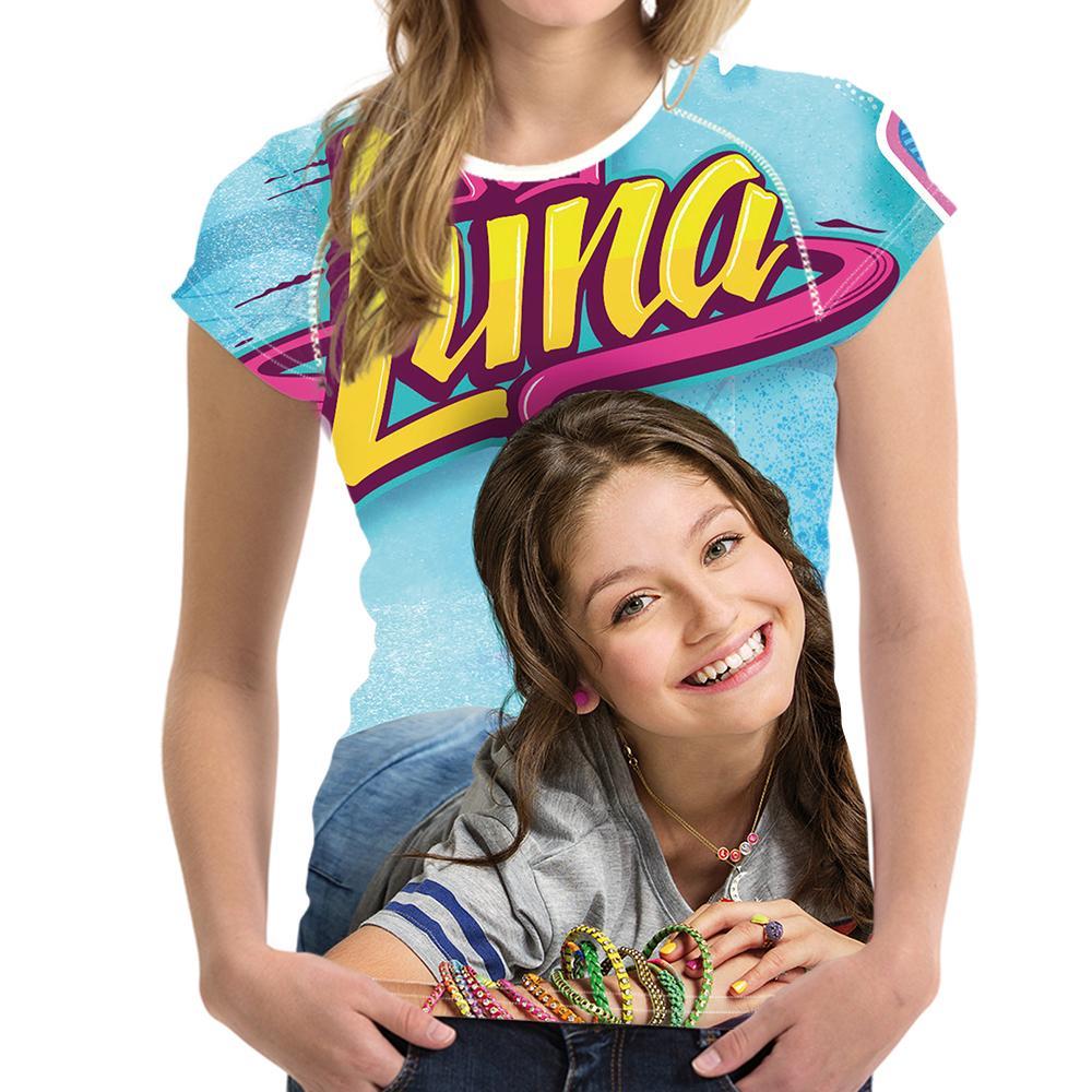 Compre Camiseta Modificada Para Requisitos Particulares De Las Mujeres De  La Impresión De Soy Luna Camiseta De Manga Corta De Las Señoras De La Moda  De ... 1bf8ed1fe2524