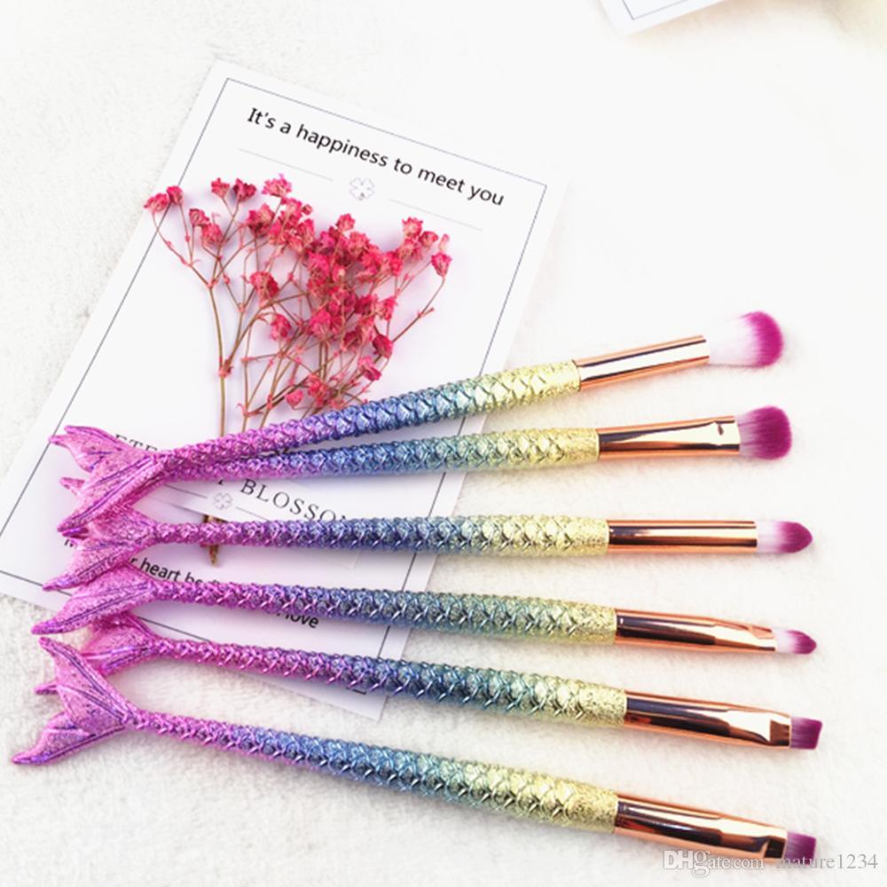 مجموعة فرش مكياج ميرميد HOT 6 قطع فرش مكياج Tech Professional Beauty Cosmetics Brushes شحن مجاني