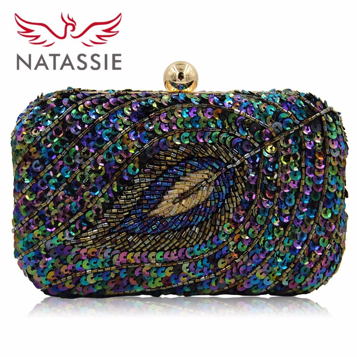 6d3f7a7f703 NATASSIE New Design Ladies Evening Bag Women Sequined Beaded Wedding Party  Floral High Quality Clutch With Chain Online Bags Handbag Online From  Fenxin, ...