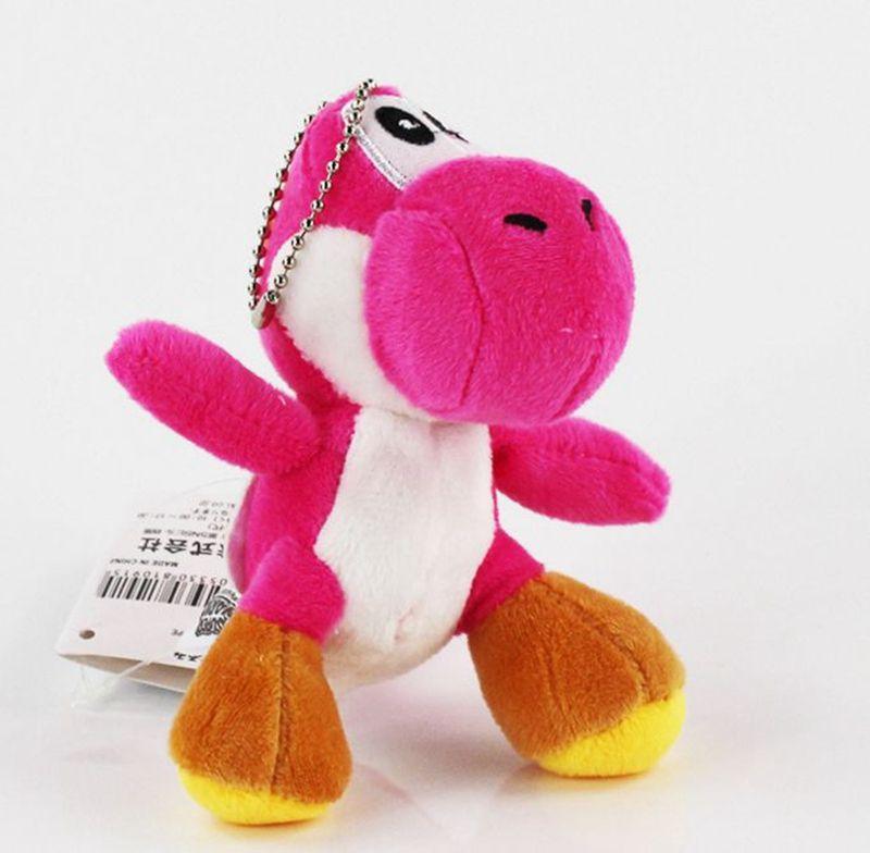Wholesale 10CM Mini Lovely Super Mario Bros Yoshi Dinosaur Dragon Colorful Plush Stuffed Doll Toy Pendant Cartoon Pendant