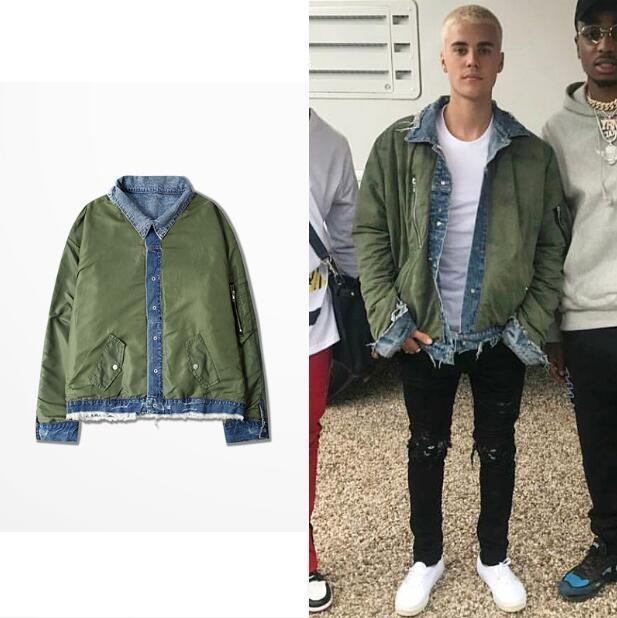 Reversible Ma1 Bomber Jacket Justin Bieber Style Reversible Pilot