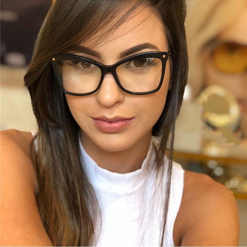 29de985fd9d Cat Eye Glasses Frames Women Brand Optical Eyeglasses Frame Women ...