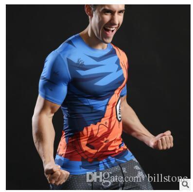 2017 Bola Z Homens 3D Dragon Balldragon bola t shirt Dos Homens anime camisa 3d t-shirt impresso camisa de compressão tops de Fitness t