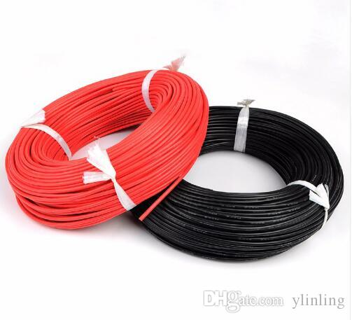 1 Meter Red+1 Meter Black Silicon Wire 12awg 14awg 16awg 18awg 20awg 22awg 24awg Heatproof Soft Silicone Silica Gel Wire Cable Tool Parts